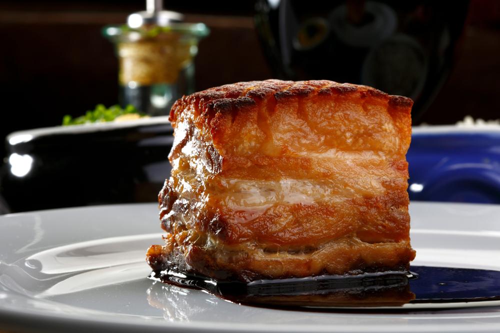 barriga de porco cozido