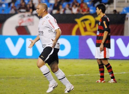 Ronaldo jogando no Corinthians