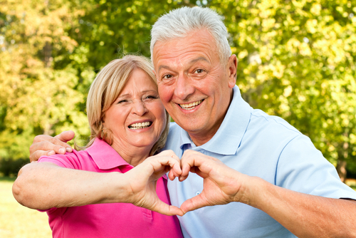 Casal coração saudável