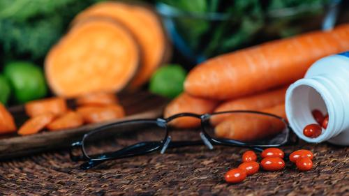 cenoura suplementos óculos brócolis