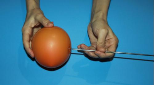 Balão canudo bexiga