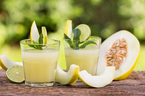 suco de casca de melão