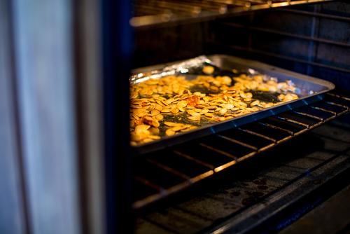 sementes de abóbora forno