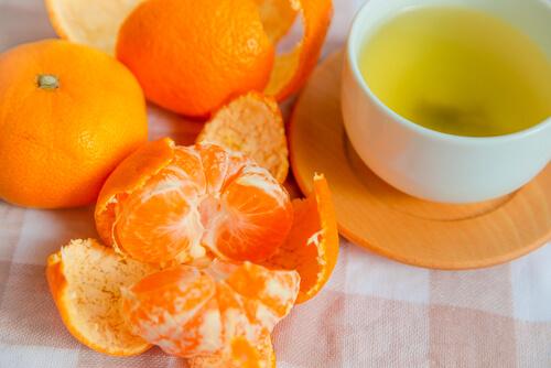 casca da tangerina