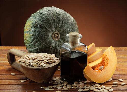 óleo de sementes de abóbora