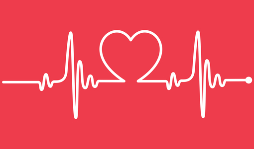 Ilustração de batimentos cardíacos