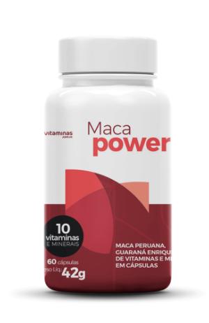 Suplemento alimentar Maca Power do Vitaminas.com.vc