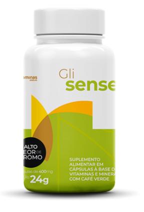 Foto do suplemento alimentar Gli Sense, do Vitaminas.com.vc